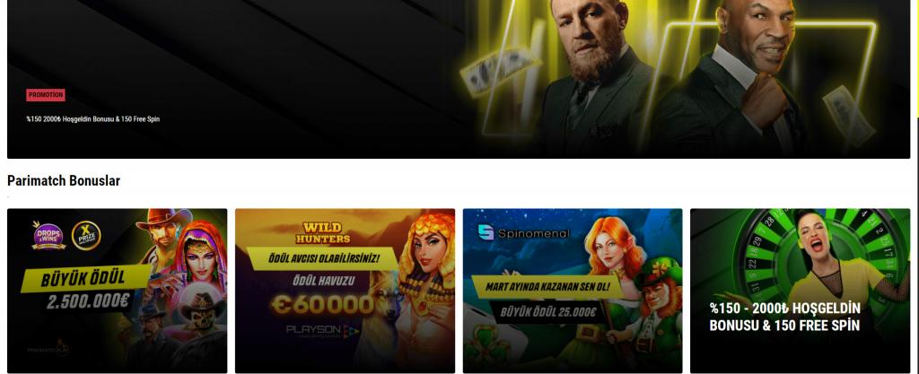parimatch bonuslar